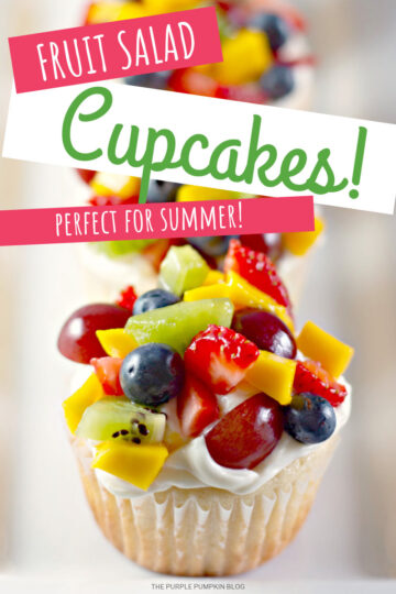 Cupcakes topped with fresh fruit