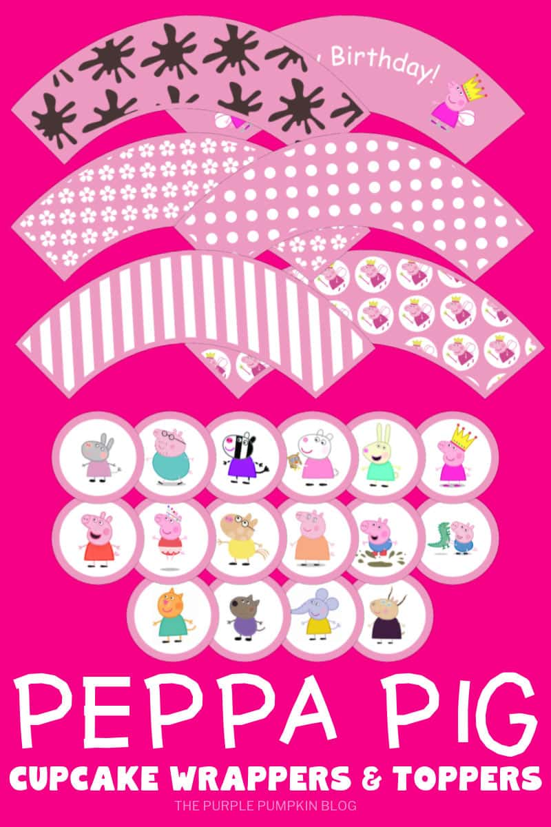 Peppa Pig Party Printables - Cupcake Wrappers & Toppers