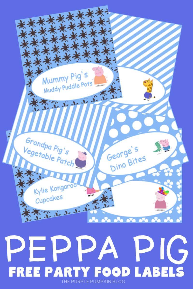 Free Printable Peppa Pig Food Labels