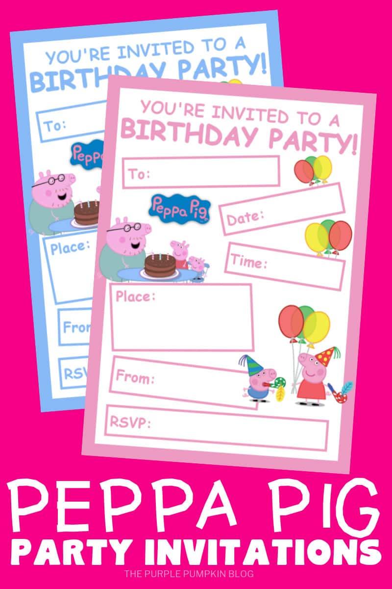 Free Printable Peppa Pig Party Invitations
