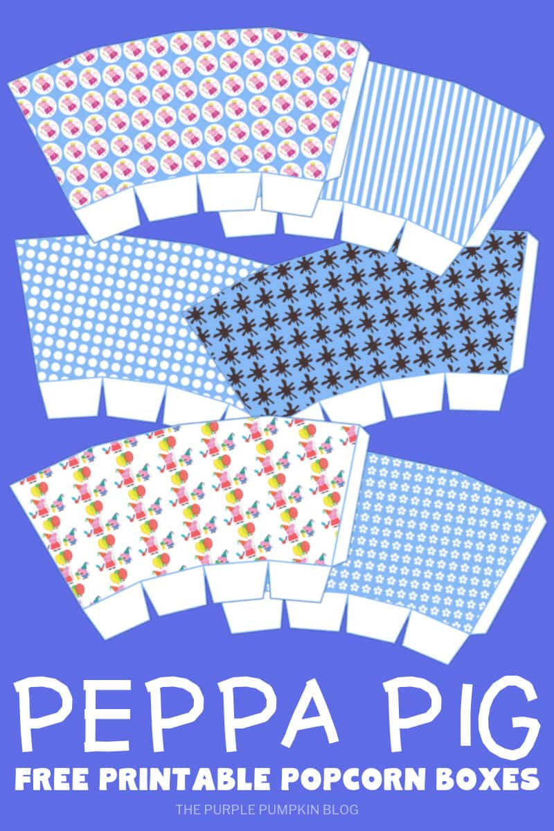 Free Printable Peppa Pig Popcorn Boxes