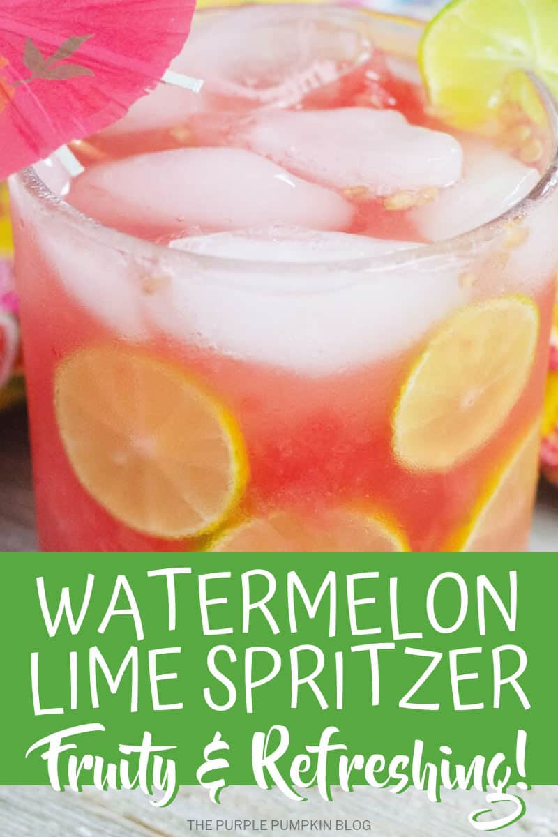 Glass of watermelon lime spritzer
