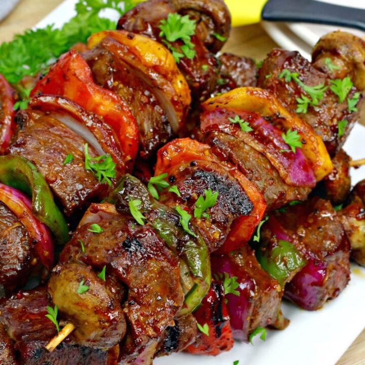 Bourbon Sweet Fire Steak Kebabs