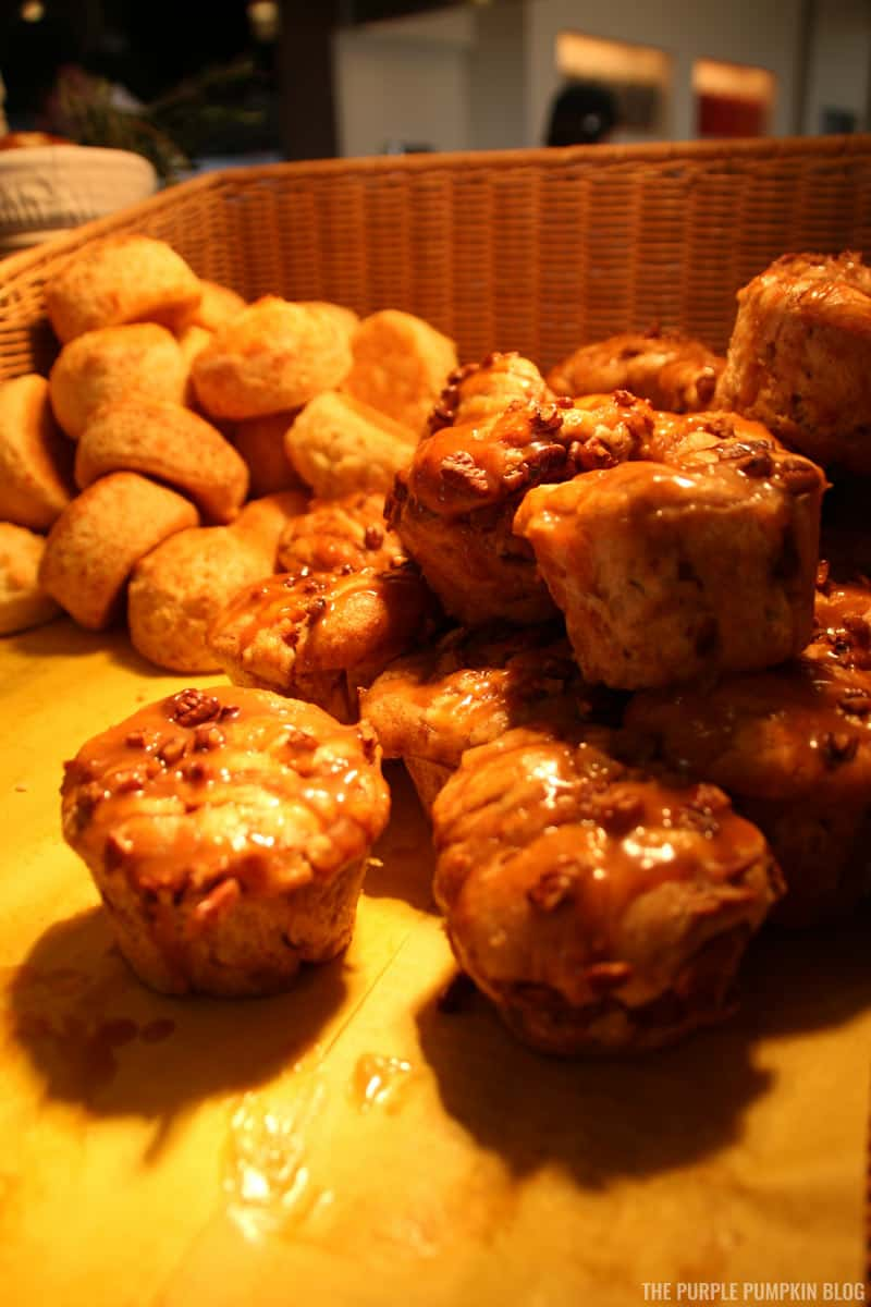 Cheddar Biscuits, Sticky Buns