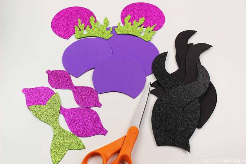 Cut Maleficent Ear Pieces