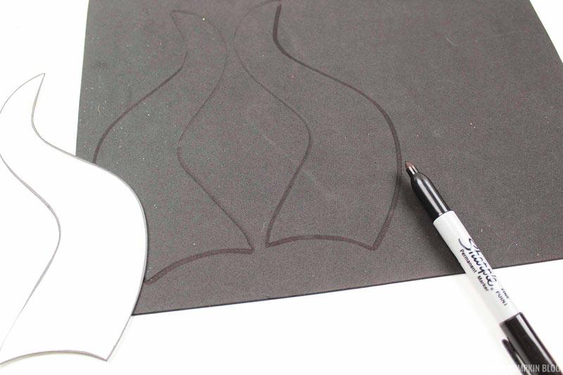 Cutting Maleficent Horns