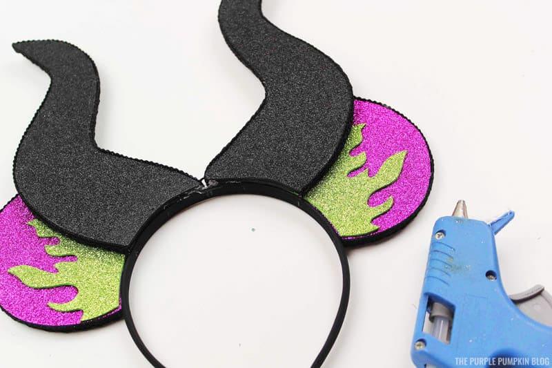 Glue Horns to Headband