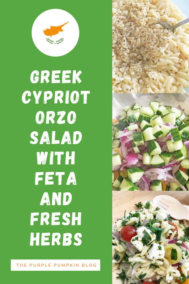 Greek Cypriot Orzo Salad with Feta & Fresh Herbs