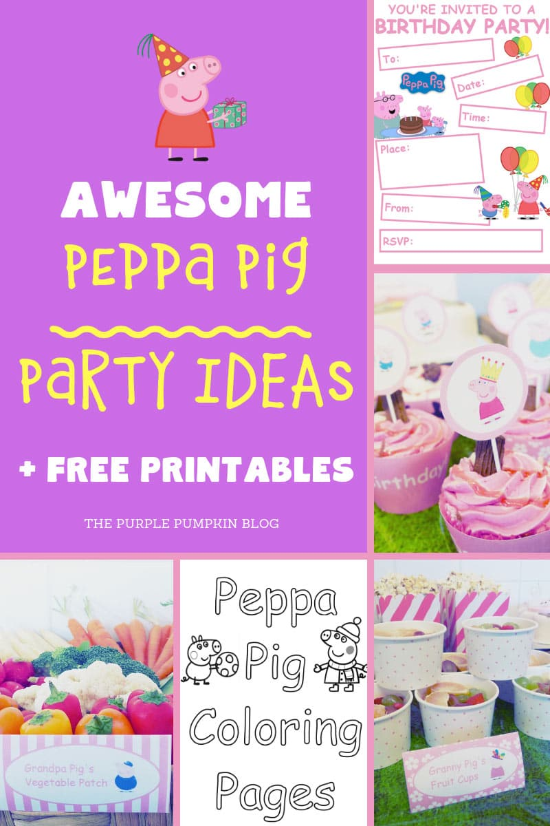 Awesome Peppa Pig party ideas and free printables!