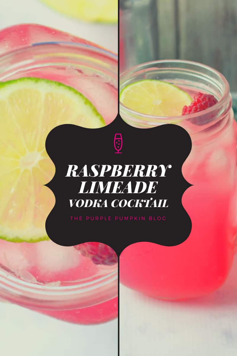 Raspberry Limeade Vodka Cocktail
