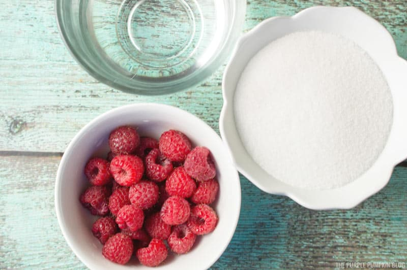 Raspberry Simple Syrup Ingredients