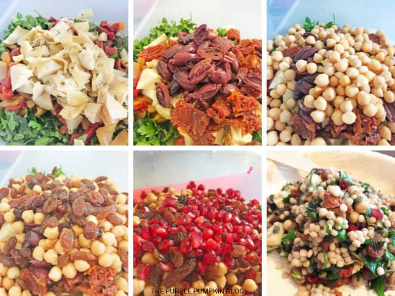 Recipe card for Israeli Couscous Salad