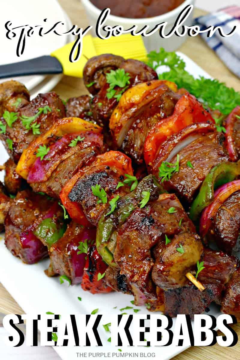 Spicy Bourbon Steak Kebabs