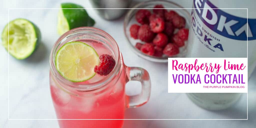 Raspberry Lime Vodka Cocktail