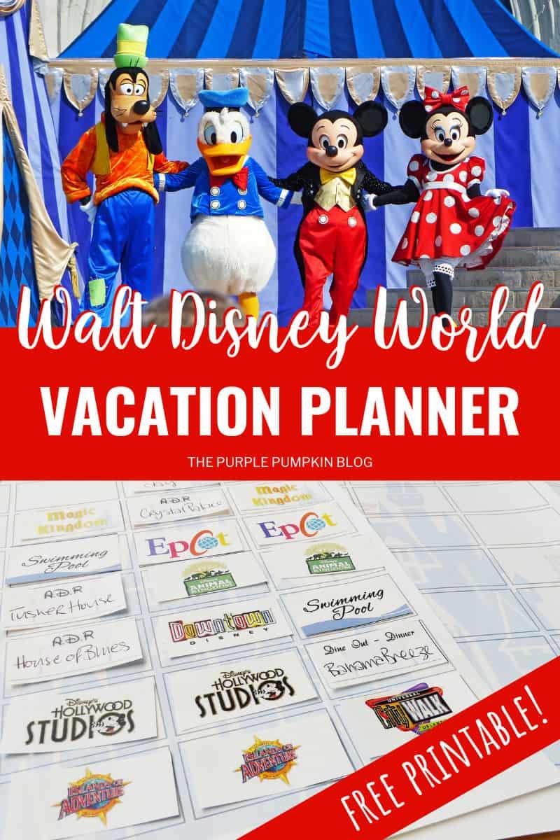 Walt Disney World Vacation Planner Free Printable