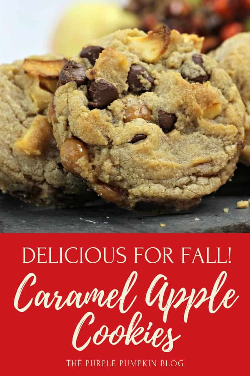 Delicious for Fall! Caramel Apple Cookies