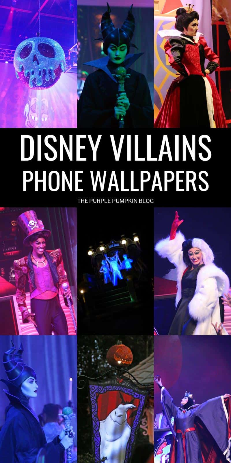 A set of nine Disney Villains wallpapers for your phone.