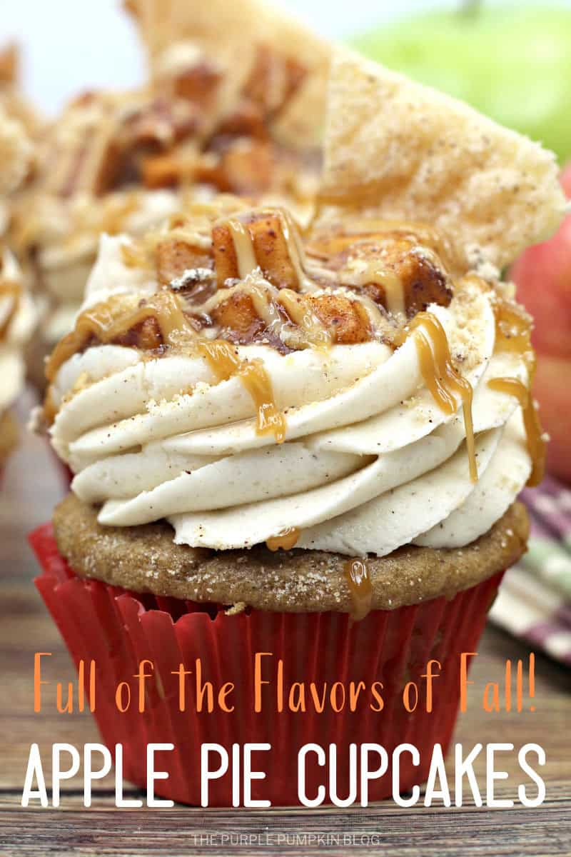 Full of the flavors of fall! Apple Pie Cupcakes