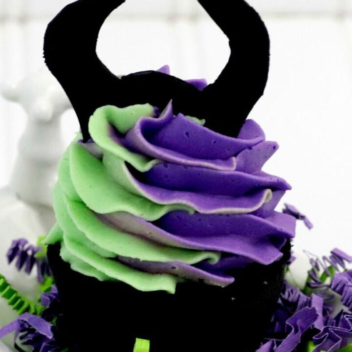 Homemade Maleficent Cupcake Bath Bombs
