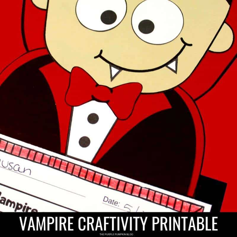 Vampire printable craftivity