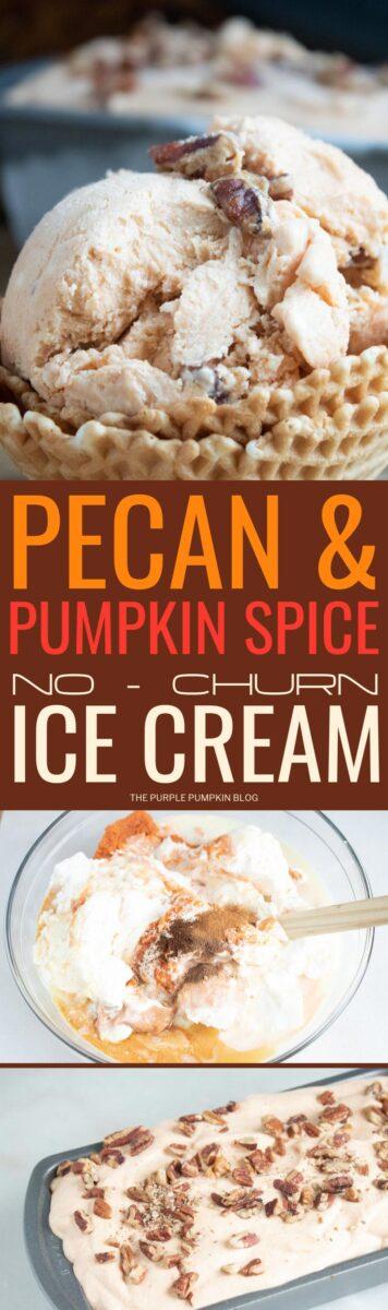 Pecan & Pumpkin Spice No Churn Ice Cream