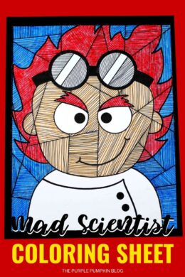 Free Printable Mad Scientist Coloring Sheet