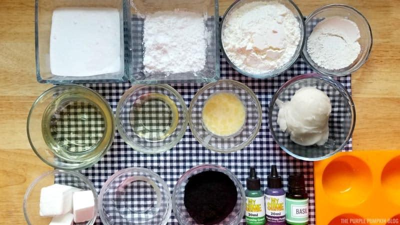 Cupcake bath bomb supplies