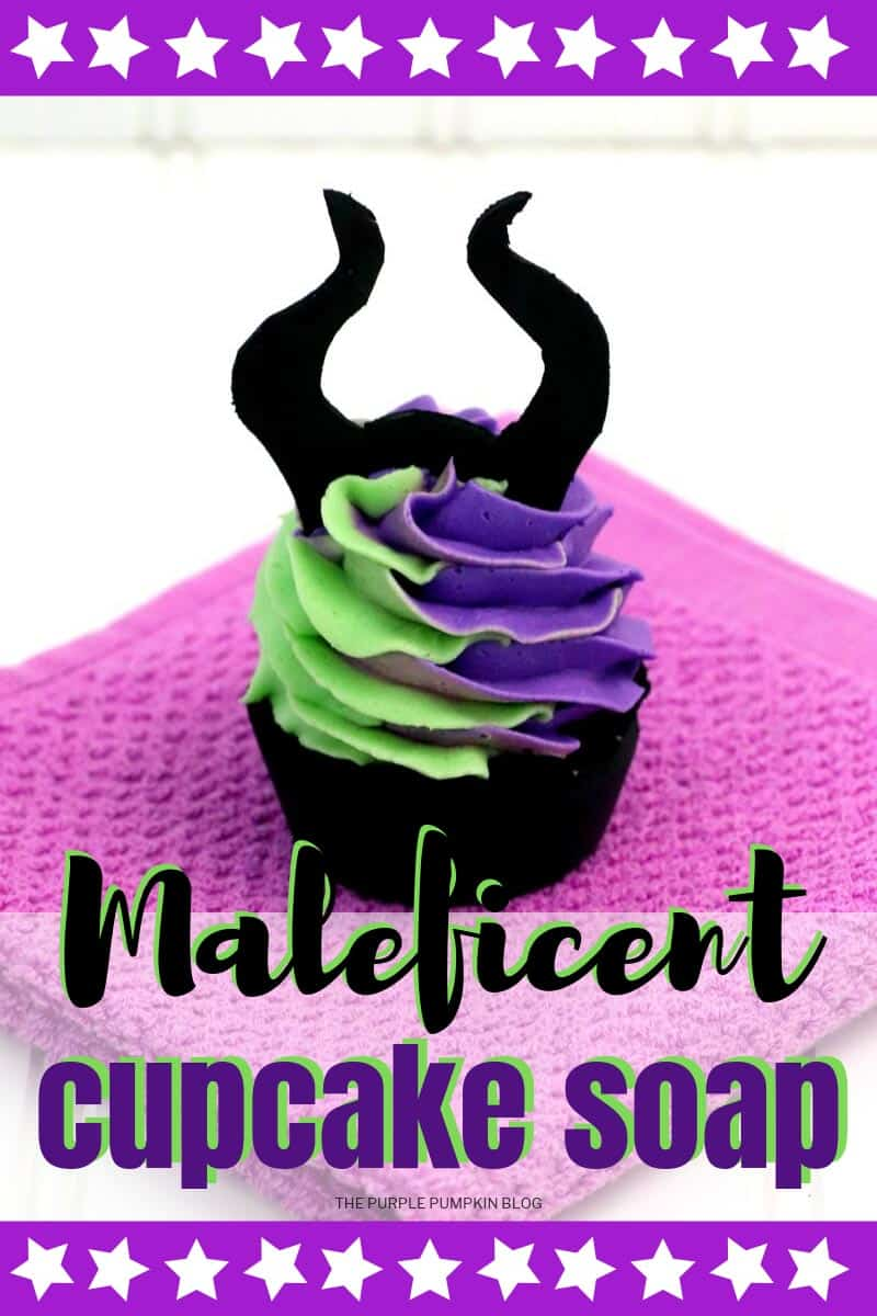 Maleficent Cupcake Soap