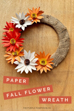 Paper Fall Flower Wreath