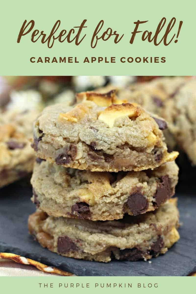 perfect for fall! Caramel apple cookies