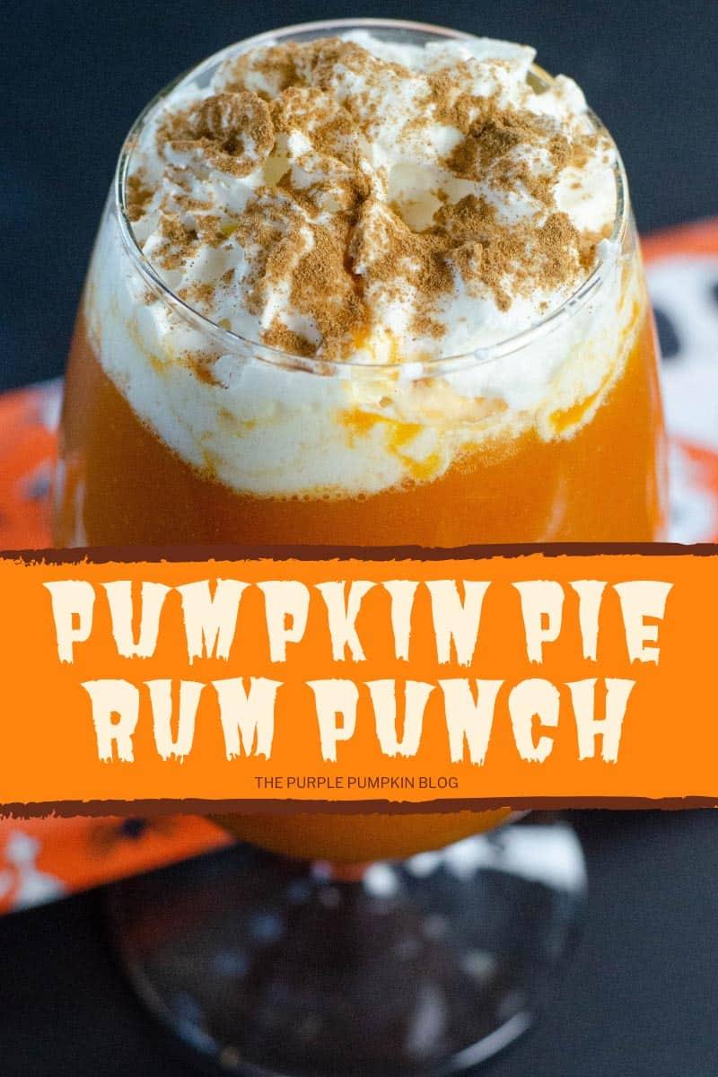 Pumpkin pie rum punch