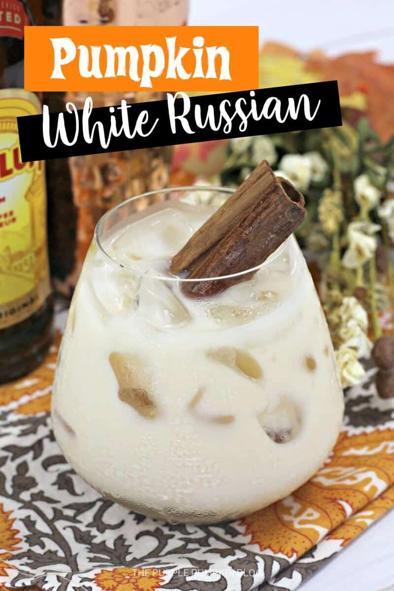 a glass of Pumpkin white russian cocktail