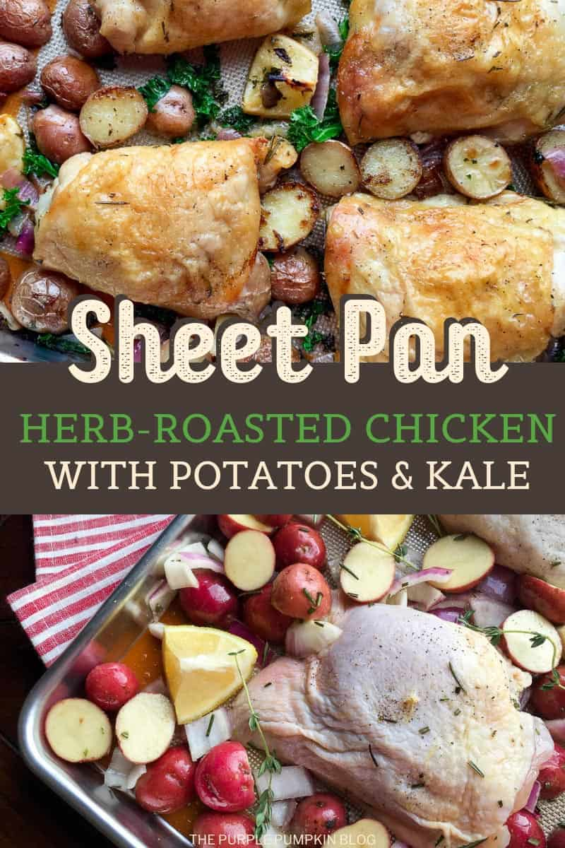 Sheet Pan Herb-Roasted Chicken with Potatoes & Kale