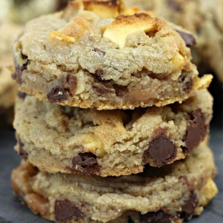Caramel Apple Cookies with Chocolate Chips