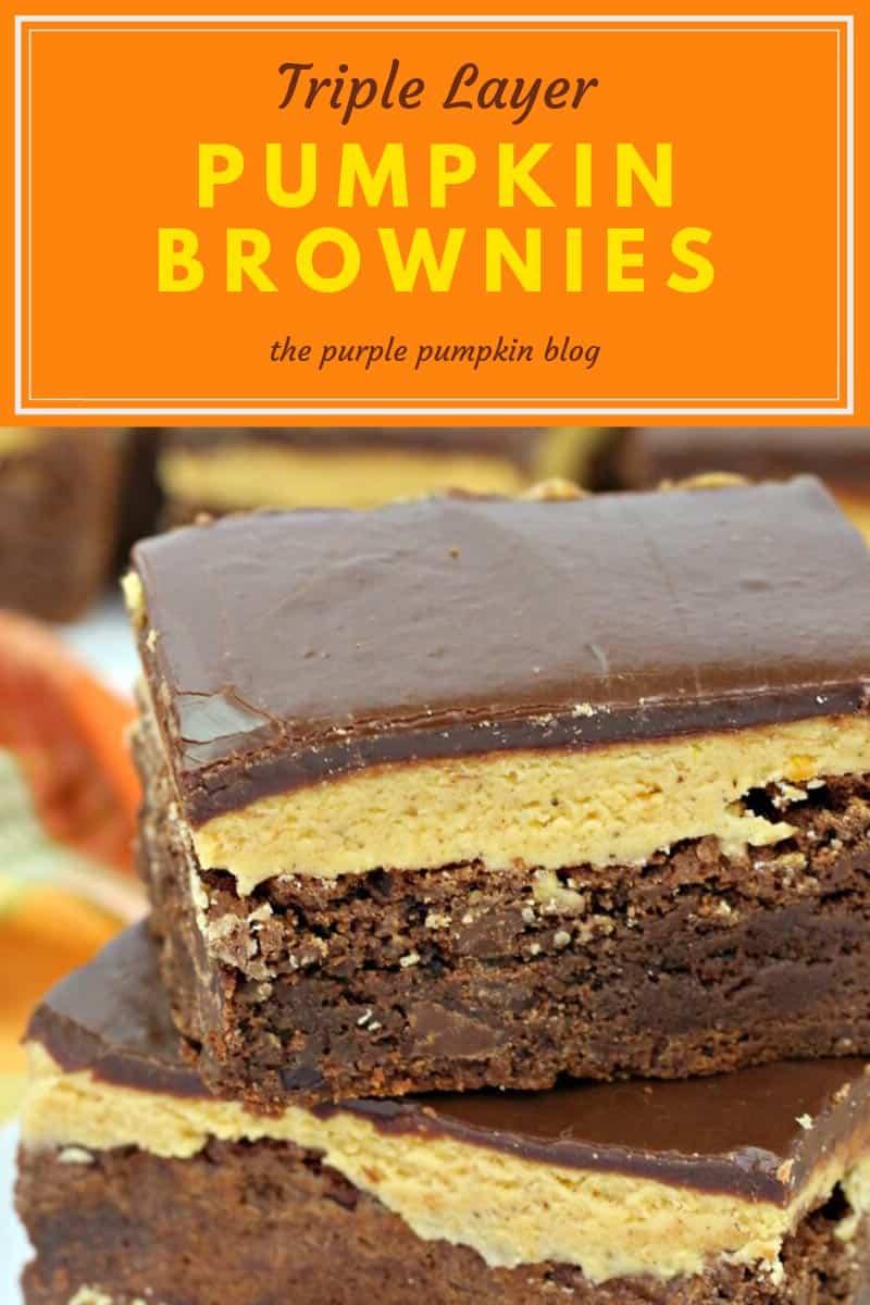 Triple Layer Pumpkin Brownies
