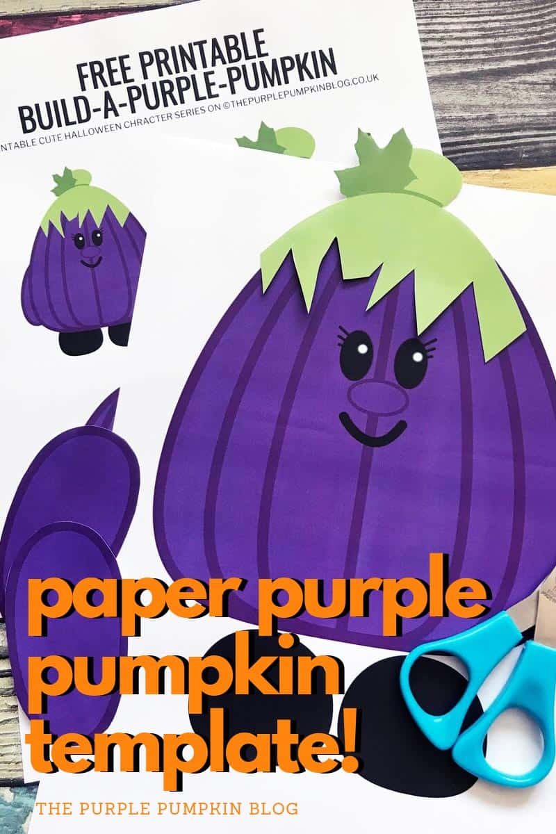 paper purple pumpkin template