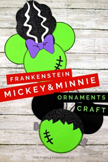 Frankenstein Mickey Minnie Ornaments Craft