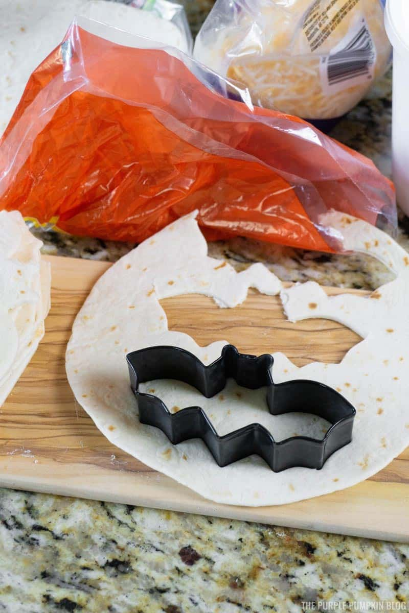Bat-Shaped Tortillas