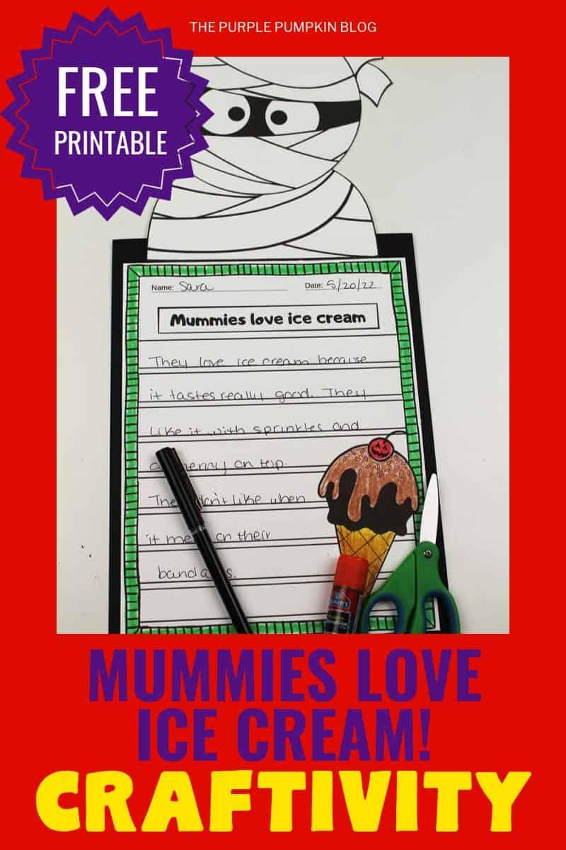 Halloween Craftivity - Mummies Love Ice Cream