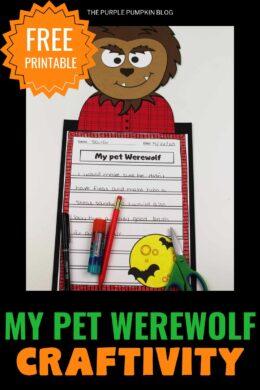 Halloween Craftivity - My Pet Werewolf