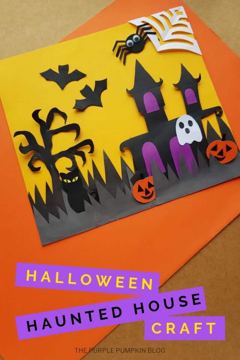 Halloween haunted house craft