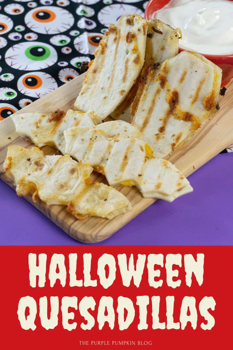 Quesadillas in Halloween shapes