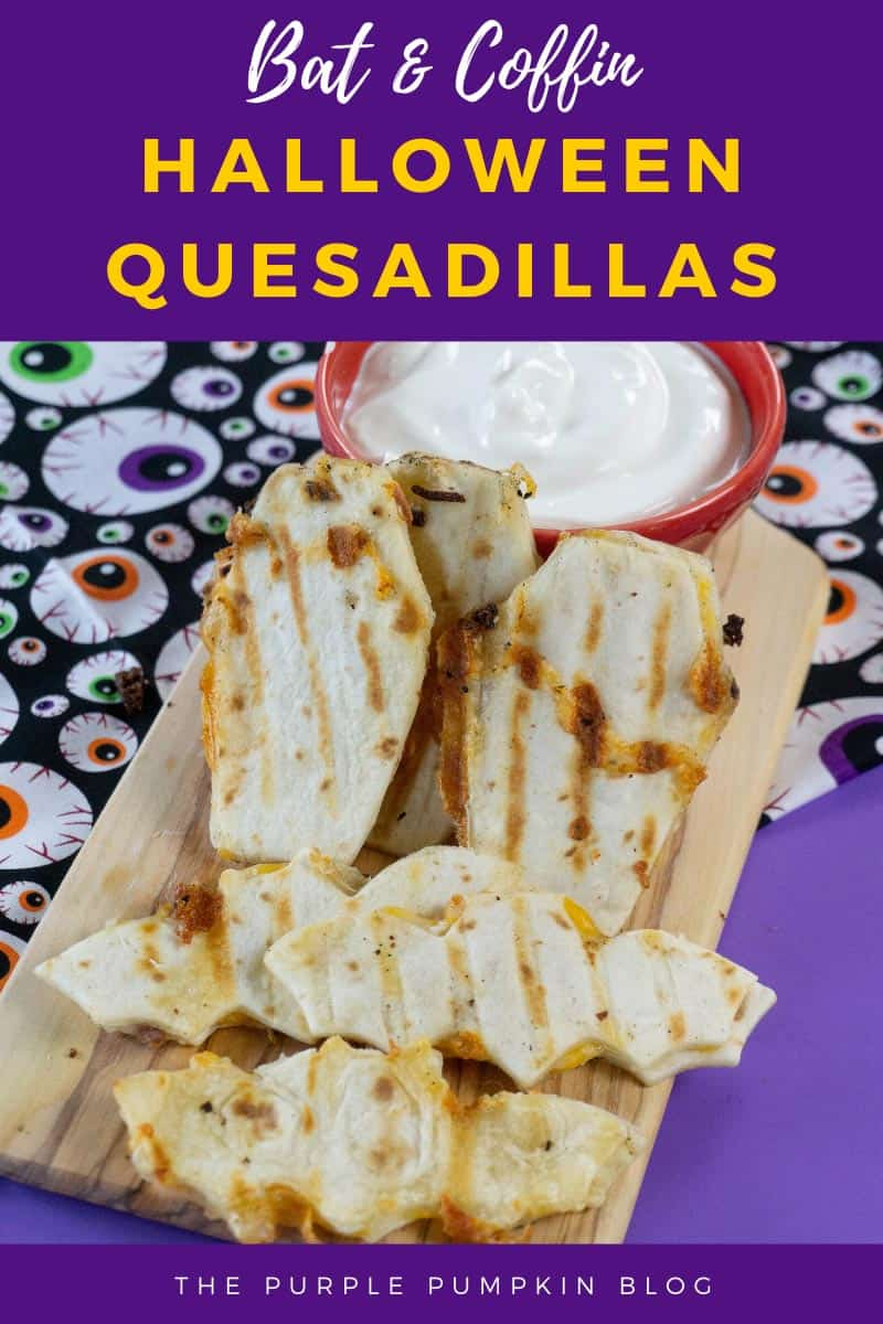Bat & Coffin Halloween Quesadillas
