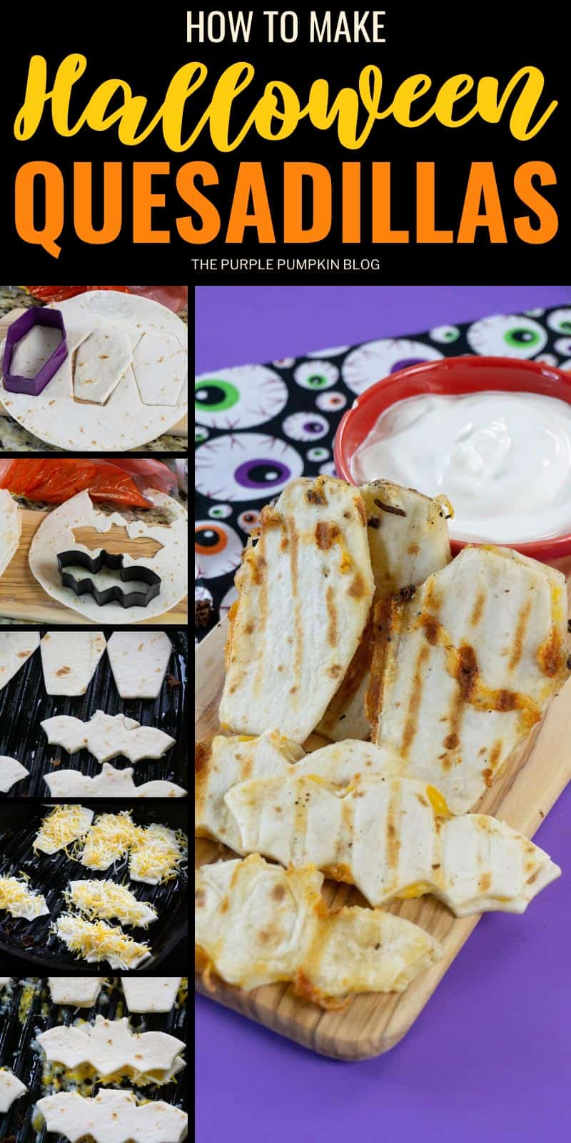 How to make quesadillas for Halloween