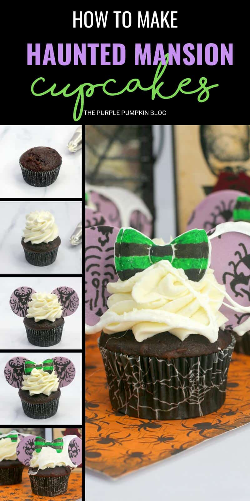 How to make Haunted Mansion Cupcakes