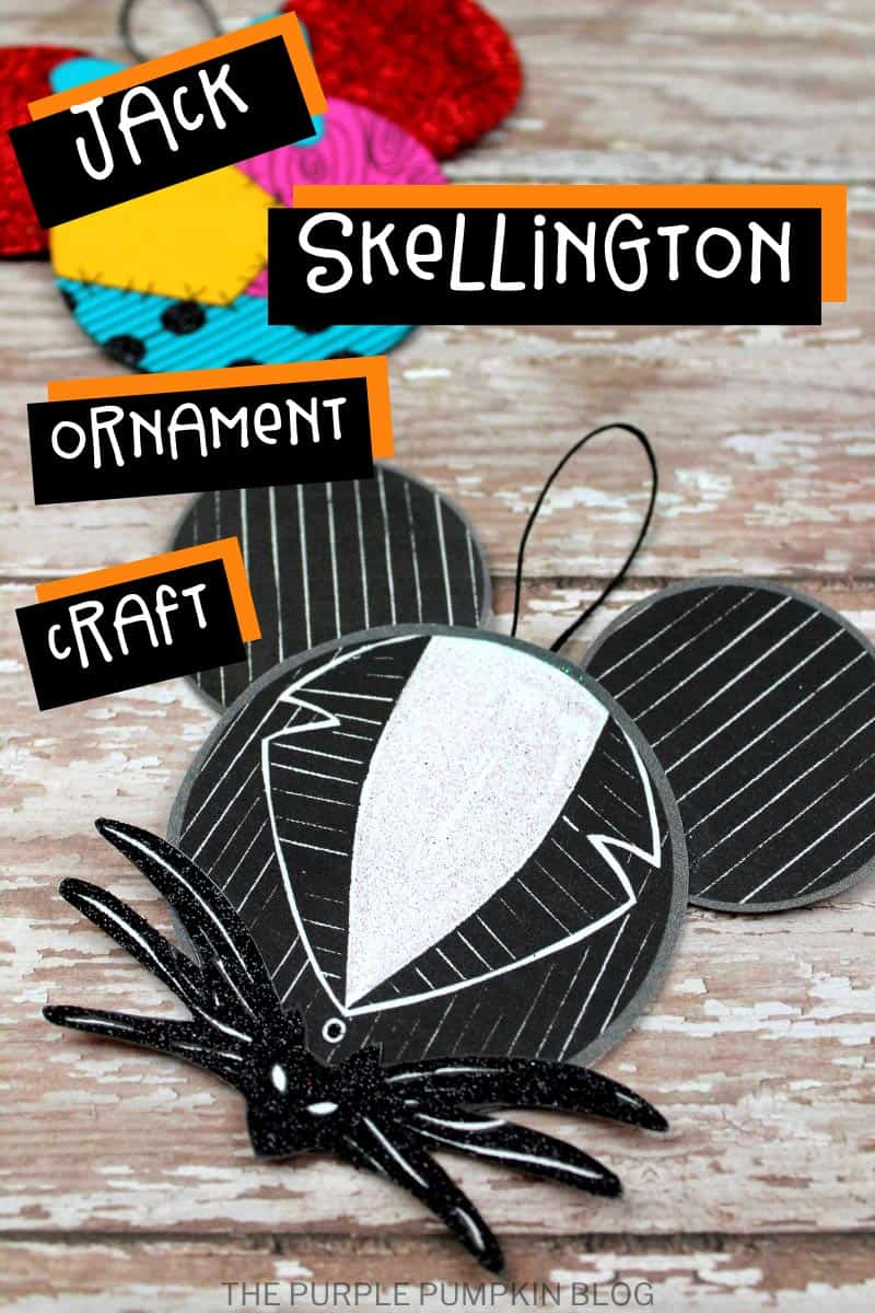 Jack Skellington - Mickey Ears Ornament Craft
