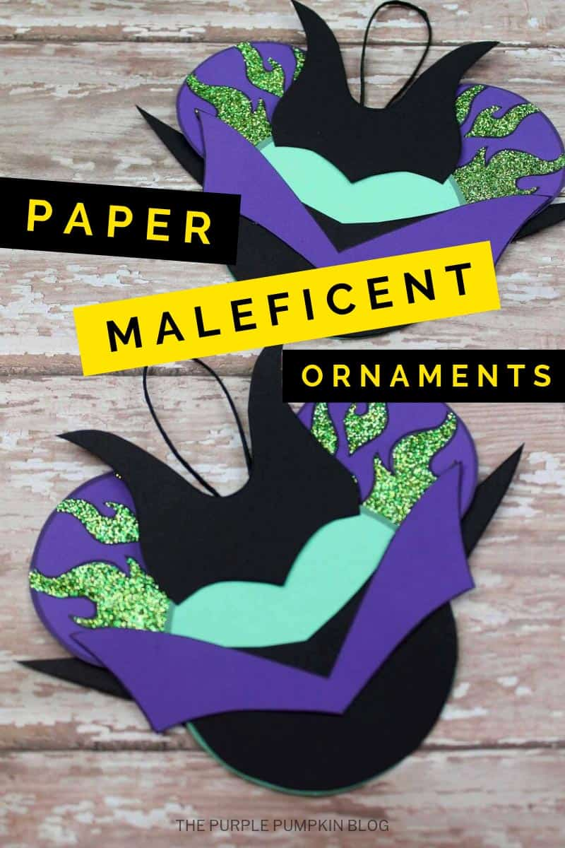 paper maleficent ornaments