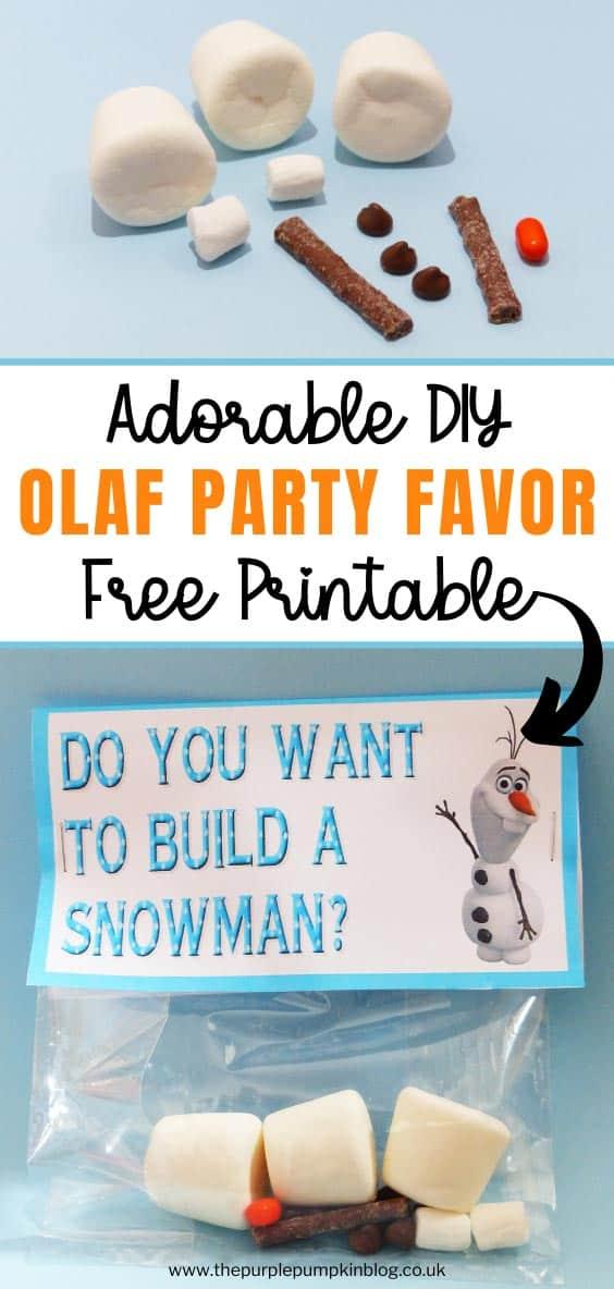 Adorable DIY Olaf Party Favor!
