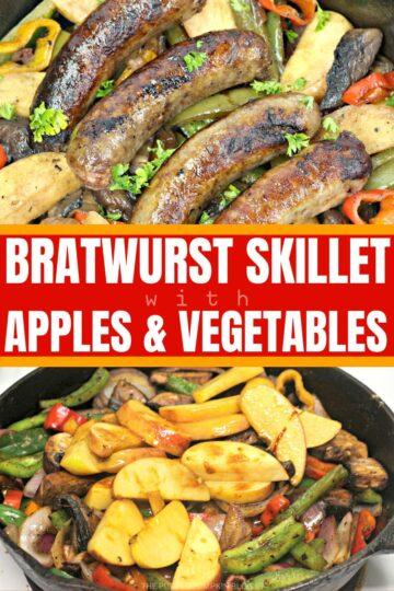 Bratwurst Skillet with Apples