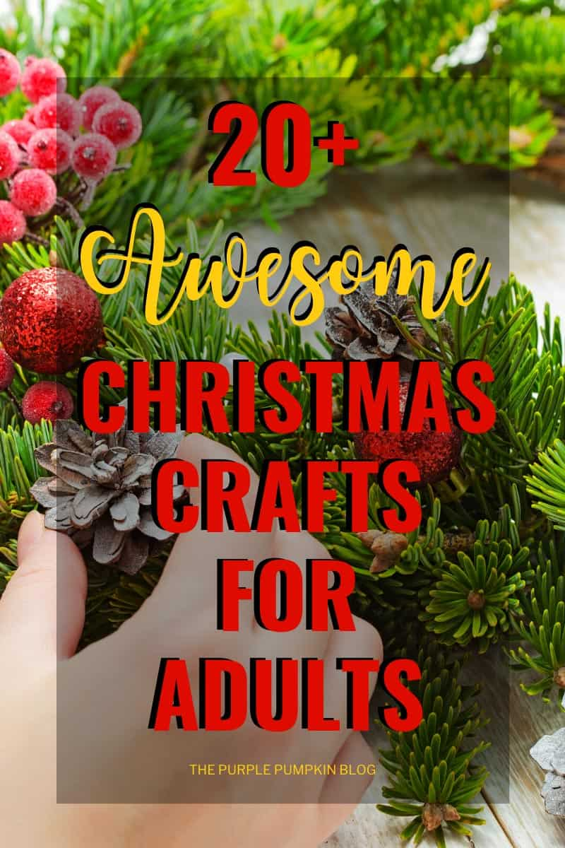 Christmas Crafts for Adults - photo of a Christmas pine wreath
